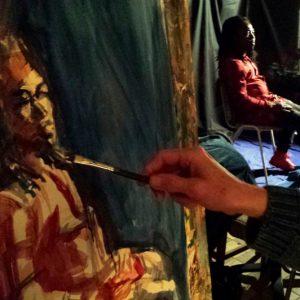 Modelschilderen In Atelier, Apeldoorn 2016