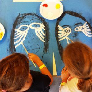 Schilderworkshop Kinderen - Maskerschilderen, Apeldoorn 2016