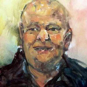 Detail - Portret Tonnie Bruens