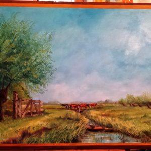 'Landschap', Olie Op Canvas - 140x160cm - Apeldoorn 2015
