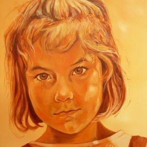 Penpaints Portret Lisa Olieverf Op Doek 60x60cm Apd2009