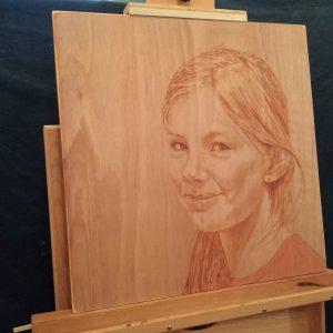 Penpaints Portret Lisa  Olieverf Op Paneel Apd2014