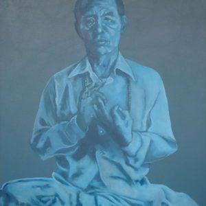 Penpaints Portret Nyoshul Khen Rinpoche  Olieverf Op Hout 90x140cm Apd2006