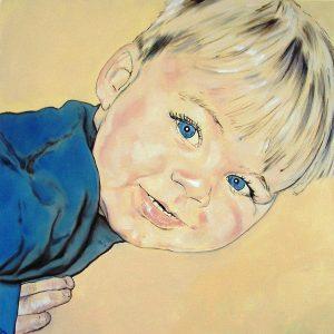 Penpaints Portret Olle Olieverf Op Doek 50x50cm Apd2004