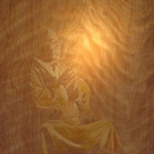 Penpaints Portret Sogyal Rinpoche  Olie Op Paneel Apd 2007