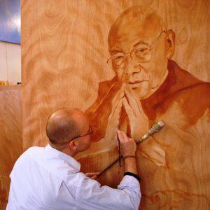 Penpaints Portret Trulshik Rinpoche  Olieverf Op Hout 110x120cm Apd2007