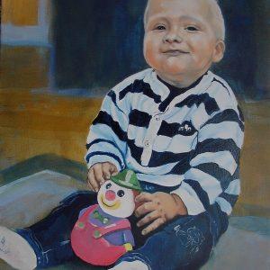 Penpaints Portret Kind Olieverf Op Doek 35x60cm Apd2003
