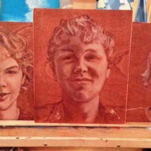 Penpaints Portretten Neefjes Olieverf Op Hout Apd 2015