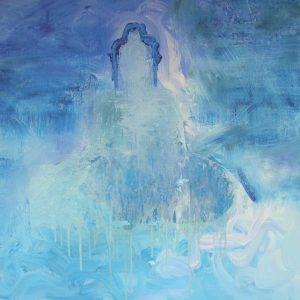 'Blue Buddha' - Olieverf Op Doek - 110x110cm - Apeldoorn 2006