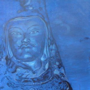 Penpaints Schilderij 'Blue Guru Rinpoche' Olieverf Op Paneel  110×110 Apd2003