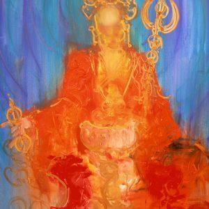 Penpaints Schilderij 'Guru Rinpoche' Cobra Op Doek  160×110 Apd2013