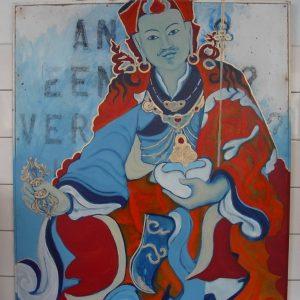 Penpaints Schilderij 'Guru Rinpoche' Olieverf Op Paneel  110×110 Apd2003
