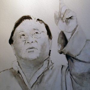 'Sogyal Rinpoche' - Gouache Op Papier - 60x80cm - Apeldoorn 2010