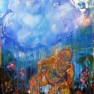 'Thought Rain' - Cobra Op Doek - 160x110cm - Apeldoorn 2013