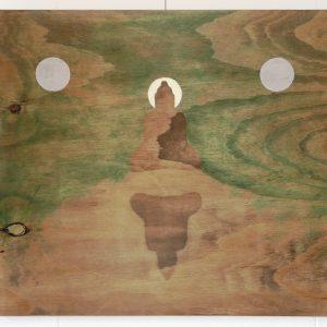 'Buddha's Reflection' - Olieverf Op Paneel - 60x80cm - Apeldoorn 2007
