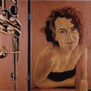 Penpaints Tweeluik Portret Klarinetiste Olieverf Op Paneel Apd2002