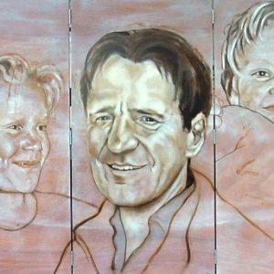 Penpaints Vijfluik Portret Harry Met Zijn Zonen Olieverf Op Paneel 160x 600cm Apd2002