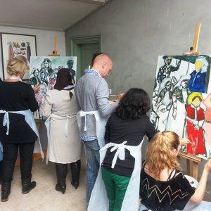 Workshops Bedrijven- Zorgteam Schildert Zichzelf In Historische Setting -2013