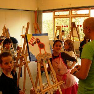 Reizend Atelier- Een Van De 300 Enthousiaste Schilderkids- Bredescholen Apeldoorn 2009