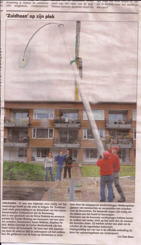 penpaints-artikel Stentor 7-9-11- Kinetisch metalen sculptuur 'Zuidhaan'1-Apd2011.