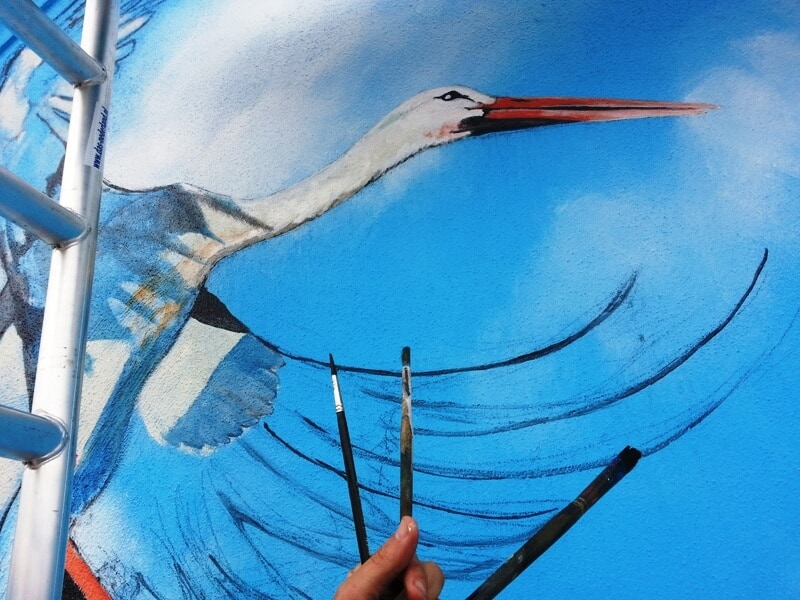 penpaints-detail gevelschildering Vogelbuurt- Apd2013