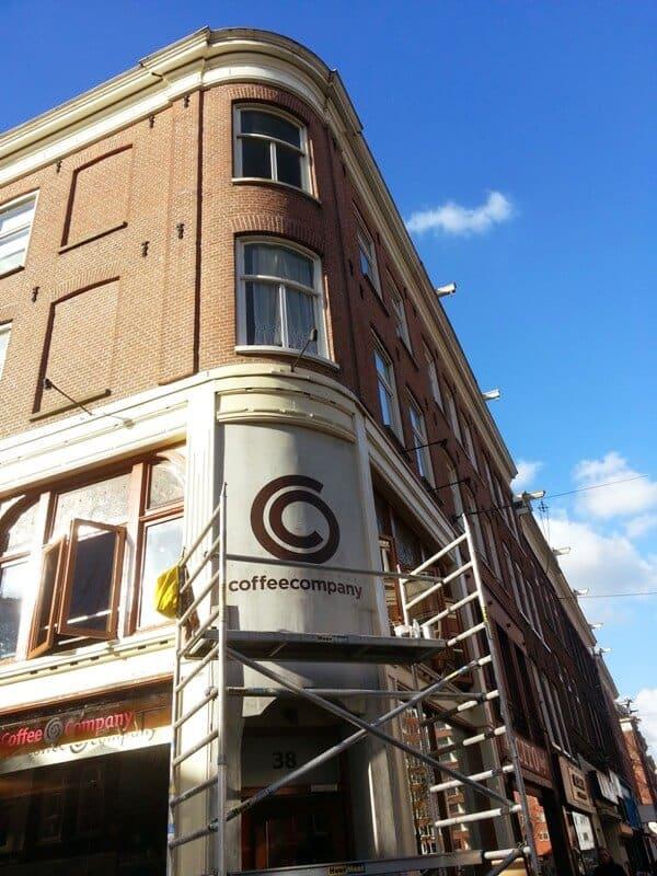 penpaints-gevelschildering logo 'Coffeecompany'-Amsterdam2014