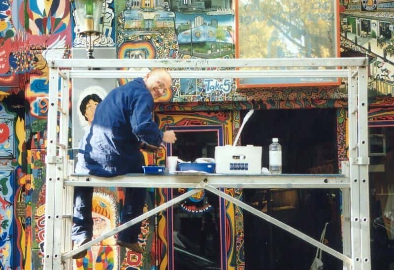 penpaints- restauratie muurschildering coffeeshop The Bulldog-Amsterdam1995
